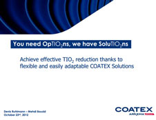 Presentation Achieve Effective TIO2 reduction