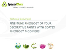 Fine tune Rheology of Decorative paints