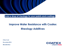 Improve water resistance with Coadis 123 K