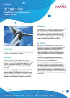 PU coatings for wind turbines Case Study
