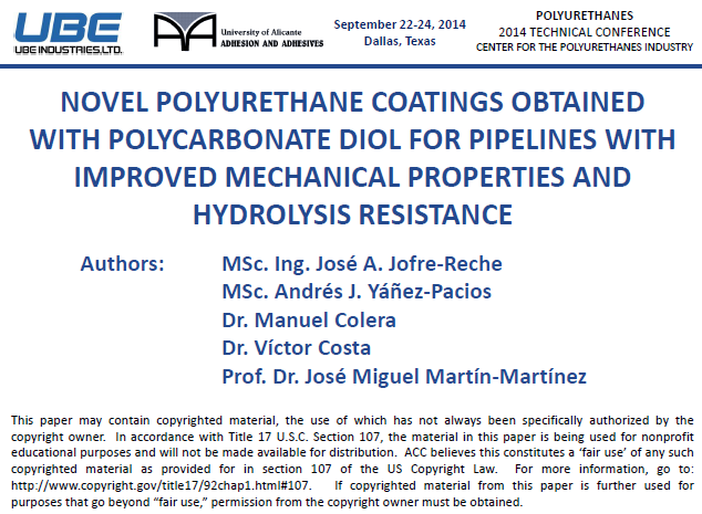 Novel PU Coatings for Pipelines