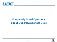 Frequently Asked Questions about Polycarbonate Diols