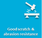 Very good scratch & abrasion resistance