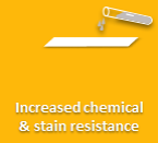 Increased chemical and stain resistance
