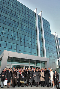 DuPont employees and Belgrade residents mark the opening of DuPont's first office in Serbia.