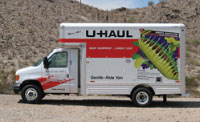 U-Haul rental trucks were painted with Ford's industry-first environmentally responsible paint technology