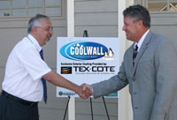 Jay Haines, TEX.COTE® President/CEO  and Andre Desjarlais, Group Leader, U.S. D.O.E.