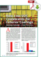 Click to read more on New Low-VOC Coalescents for Exterior Coatings