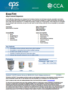 ExacTint Alkyd Colorant Dispersion