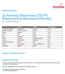 1K Aromatic Bituminous (TDI) PU Waterproofing Membrane