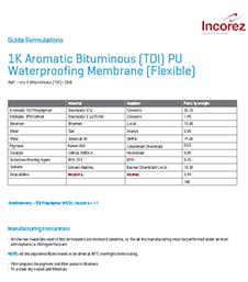 1K Aromatic Bituminous (TDI) PU Waterproofing Membrane (Flexible)