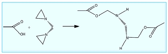 Reaction of Arizidine Curing Agent with Epoxy Resins
