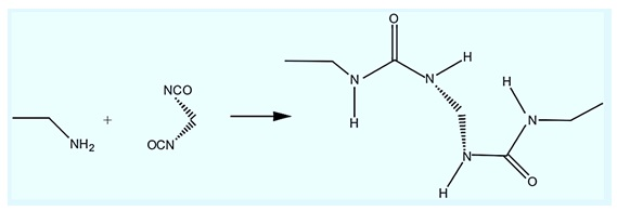 Reaction of ISocyanate with NH2 functionality