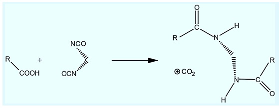 Reaction of ISocyanate with COOH Functionality