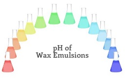 pH of the Wax Emulsion